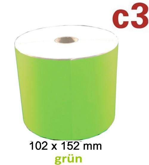 Grüne Thermoetiketten 102x152mm