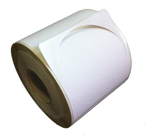 Etikettenrollen Runde 75 Mm Inkjet Etiketten Blanko Matt Ab