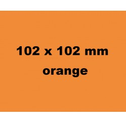 102 x102 mm Thermo 700 Etiketten, orange/ 76er Kern