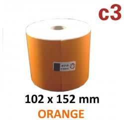Farbige Thermoetiketten orange