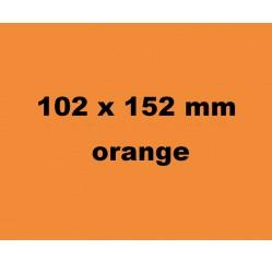 Farbige Versandetiketten orange