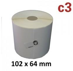 Eine Rolle mit 1.100 Thermoetiketten