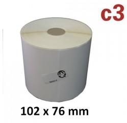 Eine Rolle mit 930 Thermoetiketten