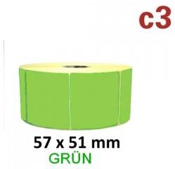 Grüne Thermoetiketten 57x51mm