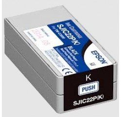 Epson Tintenpatrone schwarz für Colorworks C3500 / SJIC22P(K)