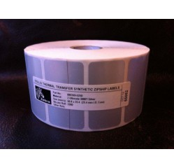 51 x 25 mm Polyesteretiketten Transfer silber