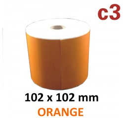 102 x 102 mm Thermodirekt Etiketten, orange