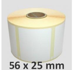 56 x 25 mm, ablösbare Thermotransfer Etiketten