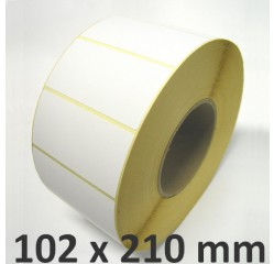 102 x 210 mm Thermodirekt  Etiketten