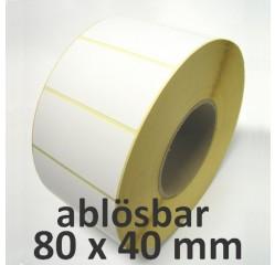 80 x 40 mm Thermodirekt Etiketten