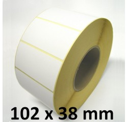 102 x 38 mm Thermodirekt Etiketten