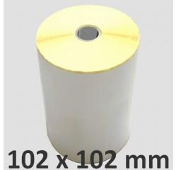 102 x 102 mm Thermodirekt Etiketten