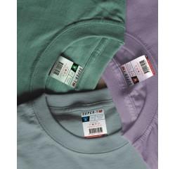 Einnäher für T-Shirts Waschzettel