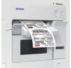 35 mm breit ENDLOS  Inkjet-Etiketten Papier glänzend , glossy