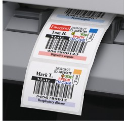 56 x 25 mm  Inkjet-Etiketten Papier glänzend, glossy
