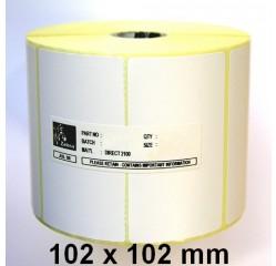 102 x 102mm Thermotransfer Etiketten