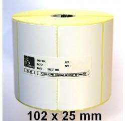 102 x 25 mm Thermotransfer Etiketten