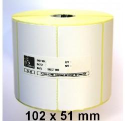 102 x 51 mm Thermotransfer Etiketten
