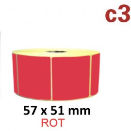 Rote Thermoetiketten 57x51mm