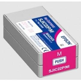 Epson Tintenpatrone magenta für Colorworks C3500 / SJIC22P(M)